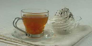 Рецепт: Напиток чайный с мандаринами.